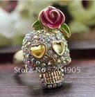 Skull & Rose ring $25 (inc postage)